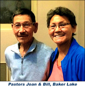 Inuit Pastors Joan & Bill at Baker Lake